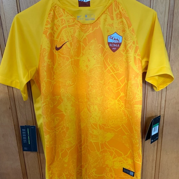 buy online e9488 fbd9c Youth XL AS Roma third kit jersey NWT